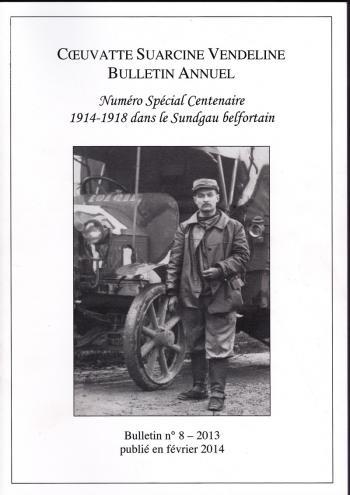 CSV Numéro spécial centenaire 1914-1918 dans le sundgau belfortain